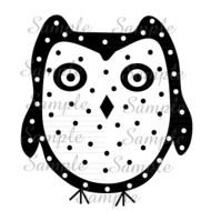 Black and white drawing of the owl clipart