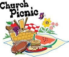 clipart of the church picnic