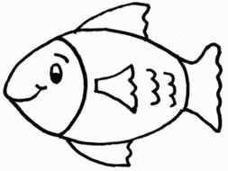 painted fish in coloring book