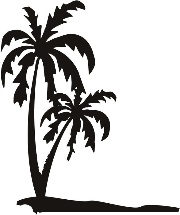 Palm Trees Wall Art drawing