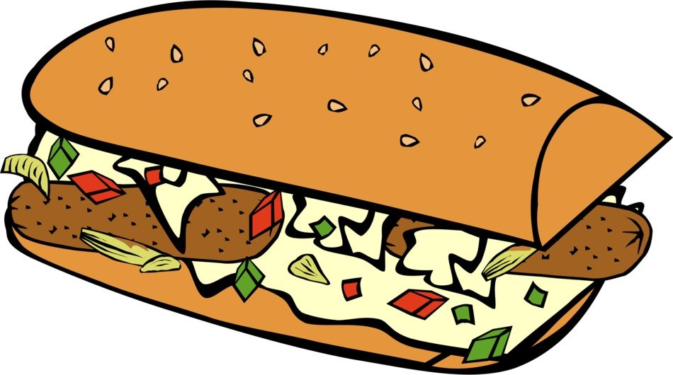 graphic drawing of a hot dog