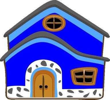 Blue House drawing