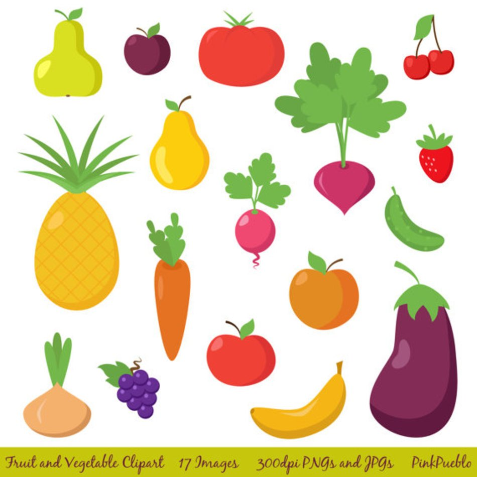 Clipart Fruit Vegetable Clipart Free Image
