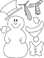 Plain Snowman Coloring Page Christmas