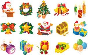 Clip art of Christmas icons