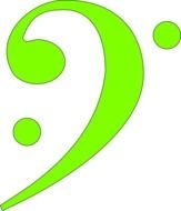 Lime green bass clef