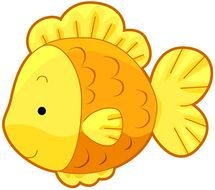 Cartoon yellow fish clipart