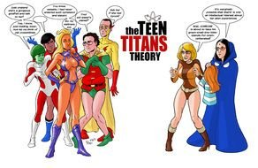 Teen Titans Team drawing
