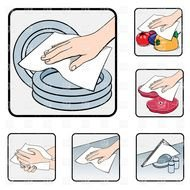 kitchen cleaning clipart