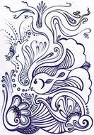 Coral Reef Fish, Coloring Page