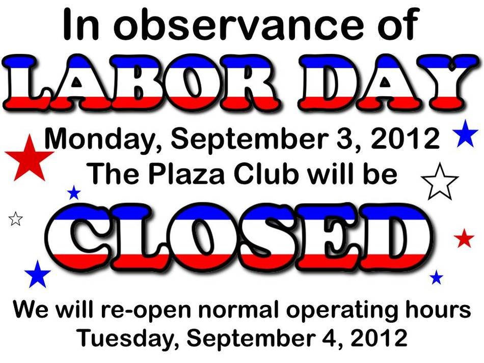 Clipart of Labor Day Closed Sign