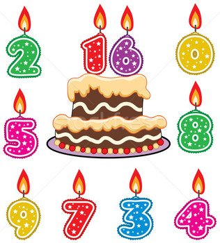 Colorful birthday cake clipart