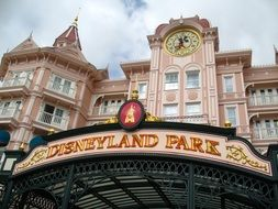 entrance to disneyland in france