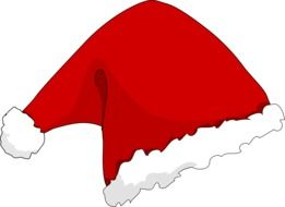 drawing red santa claus hat