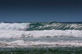 surf blue waves on the ocean