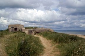 beach bunker in normandy france