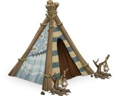 tipi tent drawing