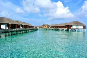 Maldives bungalo holiday