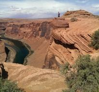 horseshoe bend canyon majestic view