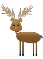 christmas deer as graphic illustration