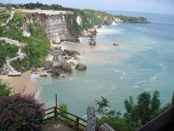 tropical coast of Bali in Indonesia
