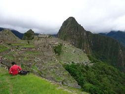 magnificent landscape machu picchu ruins peru ancient