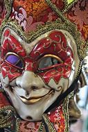 colorful mask for Mardi Gras celebration in New Orleans