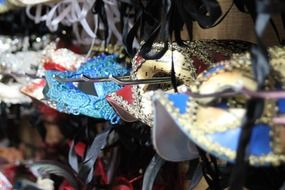 huge selection of masks for masquerade, mardi gras