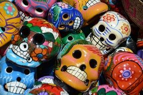 mexico ugly colorful masks