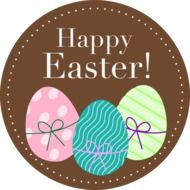 happy easter spring eggs holiday