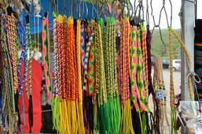 colorful handmade bracelets beach