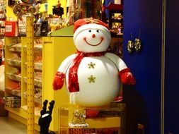 snowman as christmas decoration