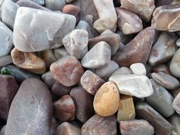 colors stones beach