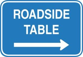 sign roadside table