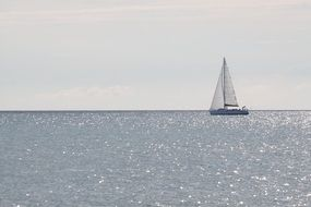 sailboat on the water away