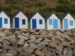 beach huts in Normandy