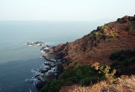 arabian sea rocky coast