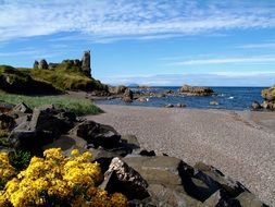 Dunure Castle is located on the west coast of Scotland
