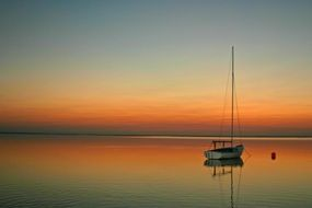 sailboat sailing sunset