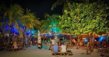 night bar in Curacao