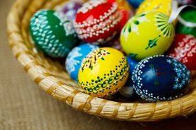 painted eggs for easter