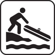 black water rafting sign