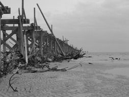 destroyed ocean pier