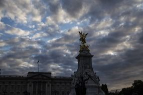 cloudy storm sky over Buckingham Palace
