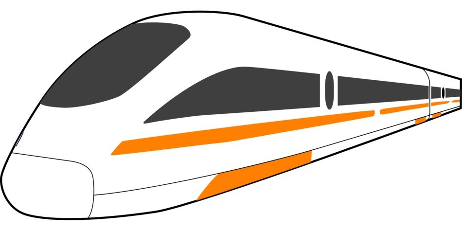 high speed train drawing