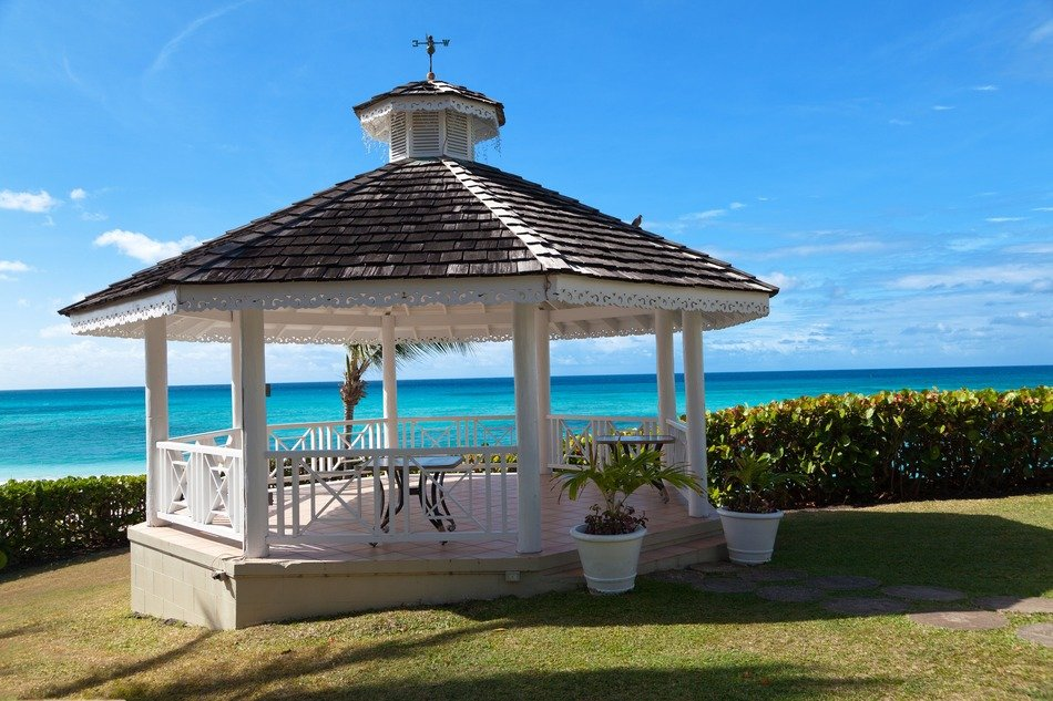 gazebo with ocean view