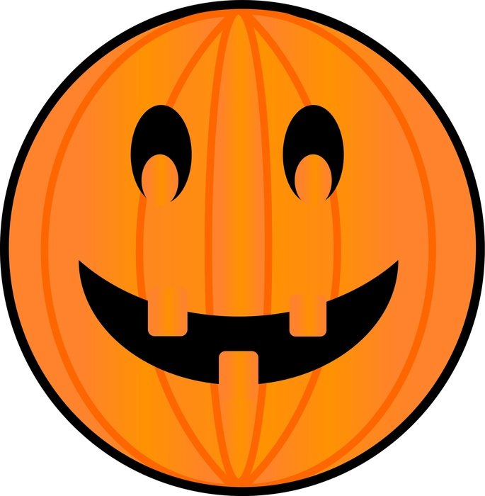 symbol of the Halloween in the form of a pumpkin