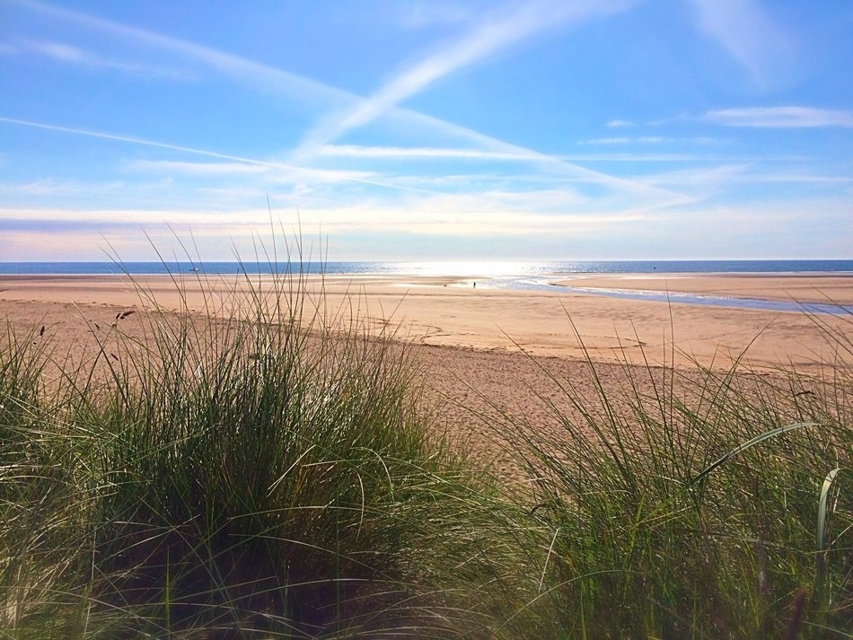 panoramic view of the coast in northumberland