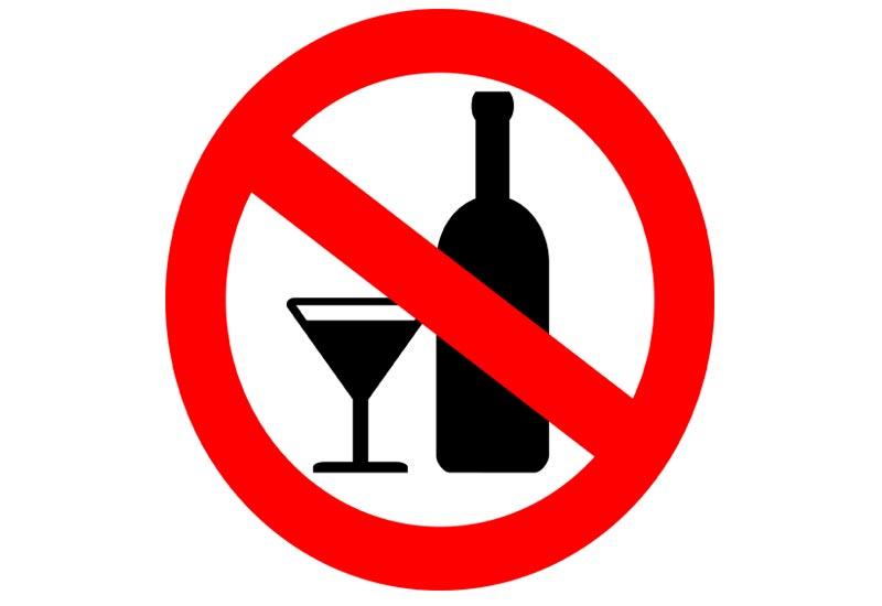 No alcohol sing drawing free image