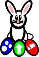 easter bunny as a graphic illustration